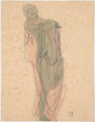 """Cambodian dancer draped."" July 1906. Auguste Rodin (1840 -1917)"