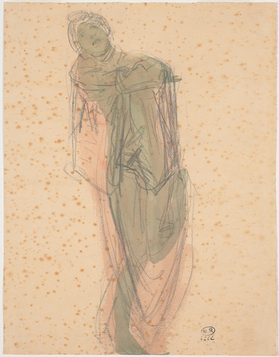 """Cambodian dancer draped."" July 1906. Auguste Rodin (1840 -1917)"