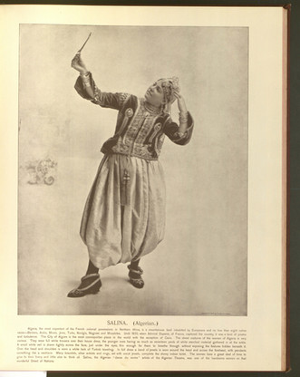 """""""Salina (Algerian)."""" Oriental and Occidental, Northern and Southern: Portrait Types of the Midway Plaisance. St. Louis: N.D. Thompson, 1894."""