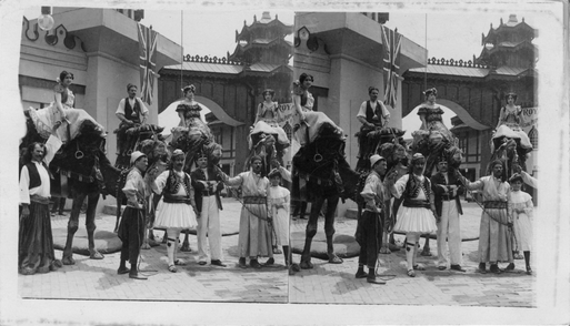 """Oriental Life and splendor of mysterious Asia. World's Fair, 1904."" Keystone View Company."