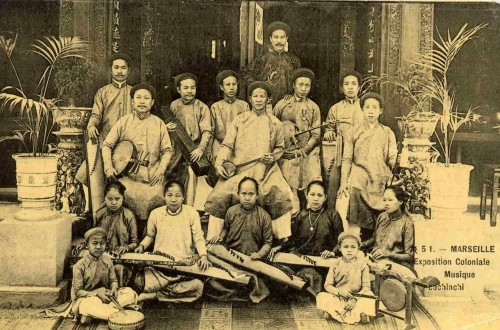 """Conchinchinese Orchestra."" 1906 Marseille Colonial Exhibition"