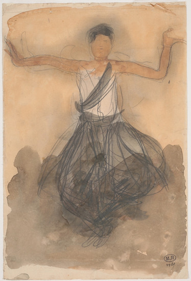 """""""Cambodian dancer in front.""""July 1906. Auguste Rodin (1840 -1917)"""