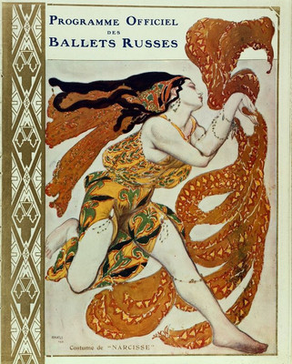 Official Programme of the Ballets Russes (costume of Narcisse) by Léon Bakst, 1911