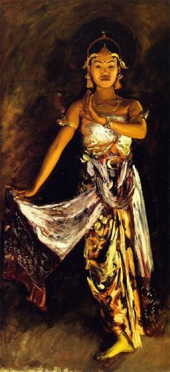"""""""Javanese Dancer, 1889."""" By John Singer Sargent (1856-1925)."""