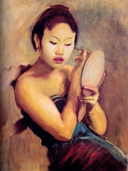 """""""A Javanese Girl at Her Toilet, 1889."""" By John Singer Sargent (1856-1925)."""