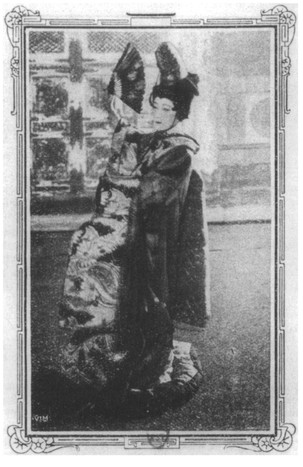 """The famous Japanese artist who first revealed Japanese tragic art to Parisians during the 1900 Exposition."""