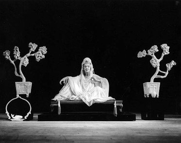 """""""Ruth St. Denis performing 'White Jade' at Jacob's Pillow Dance Festival in 1956."""""""