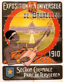 Poster from the Tervuren Colonial Exhibiton