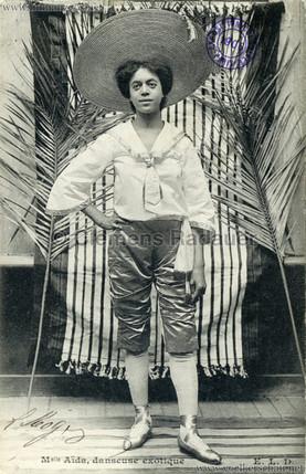 """""""Mademoiselle Aida - danseuse exotique."""" 1906 Paris Exposition Coloniale"""