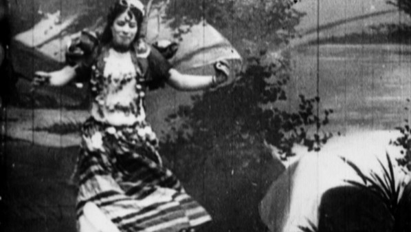 Ameta, performing the Coochee-Coochee Dance, 1896