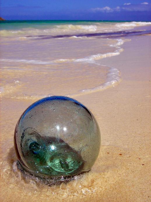 Green Fishing Ball, Lanikai Beach, Oahu.