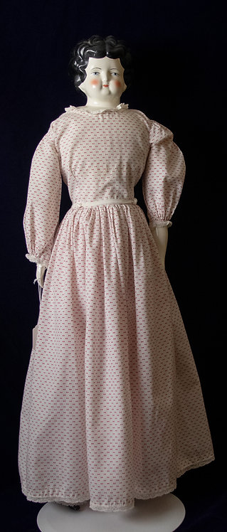 China Head Doll in Polka Dot Dress