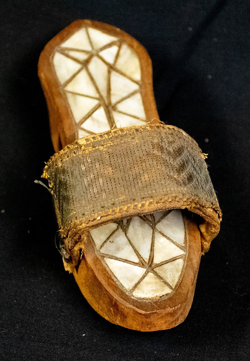 Shoe with Mother of Pearl Inlay
