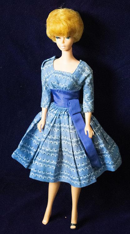 Barbie Doll with Blue Full-Skirt Dress