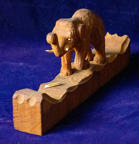 Wooden Carving of an Elephant