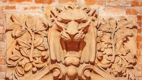 Lion Head from Glore Psychiatric Museum