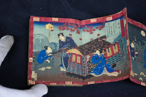 Hand-painted Book with Japanese Scenes