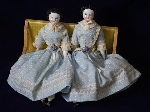 Twin China Head Dolls