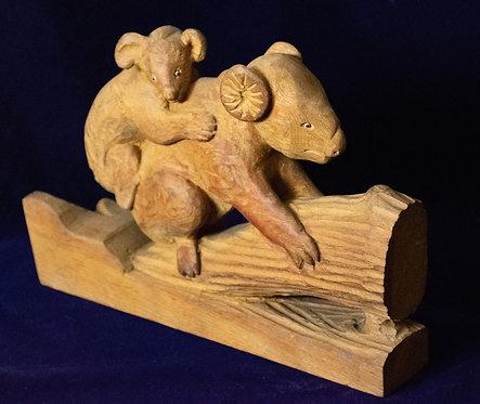 Wooden Carving of a Koala Bear