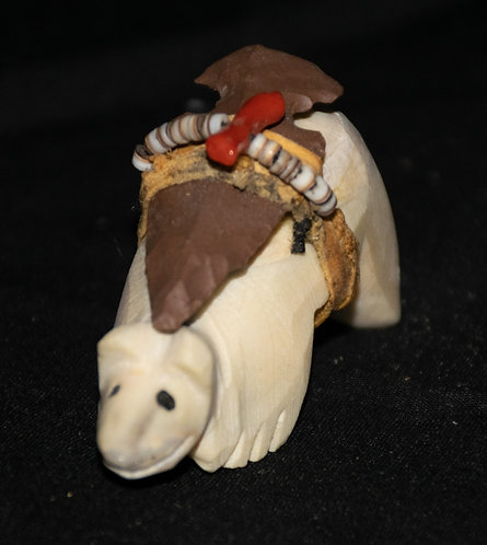 Carved Bear with Arrowhead