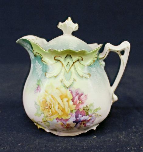 Floral Design Creamer Jar