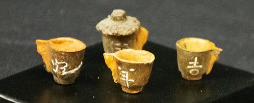 Japanese Acorn Cups Tea Set