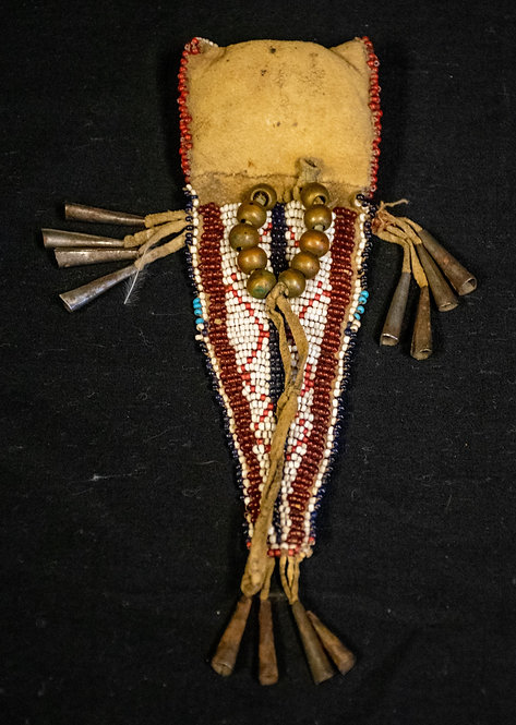 Beaded Purse with Metal Bells