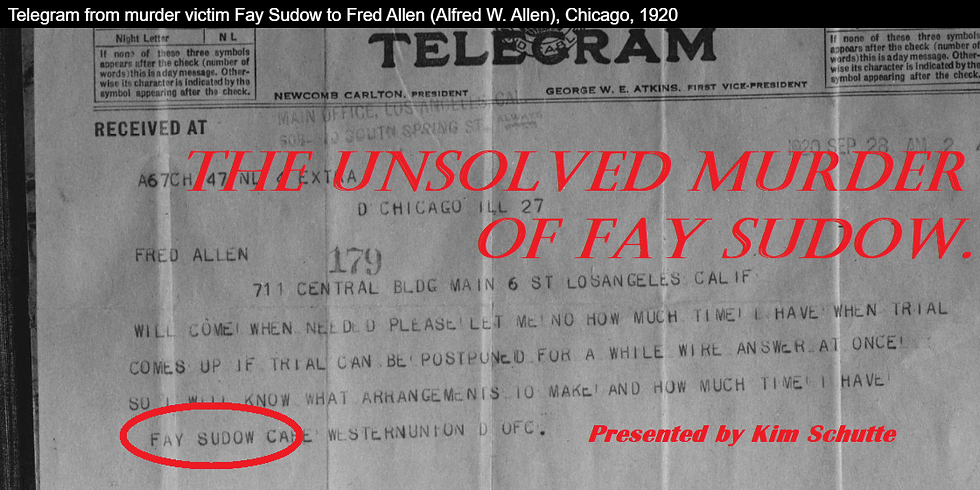 The Unsolved Murder of Fay Sudow