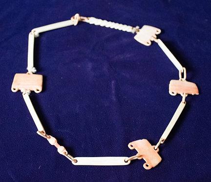 Northwest Coast Carved Bone Necklace