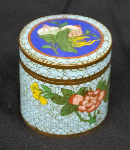 Light Blue Chinese Enameled Box