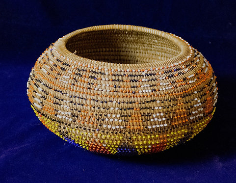 Beaded Pomo Basket