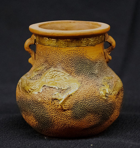 Clay Dragon Vase from Thailand