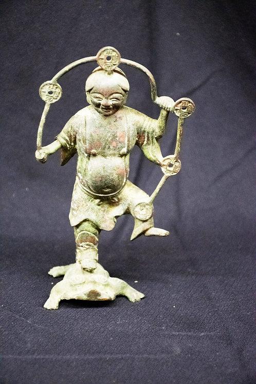 Liu Hai Bronze Figurine