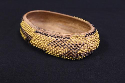 Black and Yellow Beaded Pomo Basket