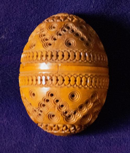 Wooden Carved Egg