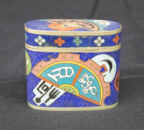 Blue Chinese Enameled Box