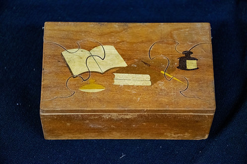 Japanese Wooden Puzzle Ink Box
