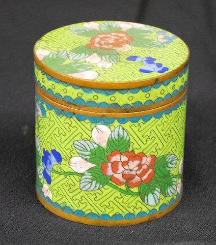 Green Chinese Enameled Box