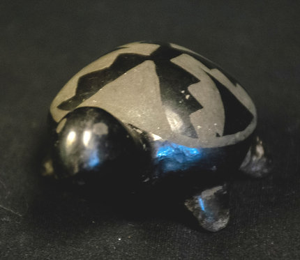 Black Turtle Sculpture