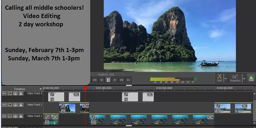 Video Editing FREE 2 day workshop