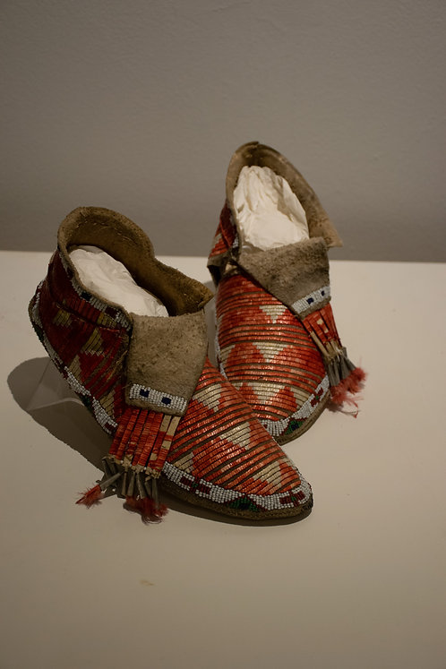 Sioux Quilled Moccasins