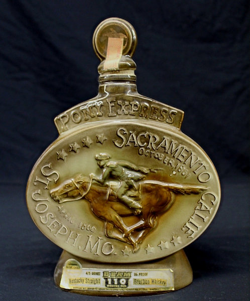 Pony Express Decanter Donated by Ben Magoon
