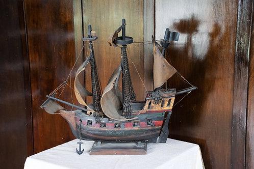 17th Century Pirate Ship Model