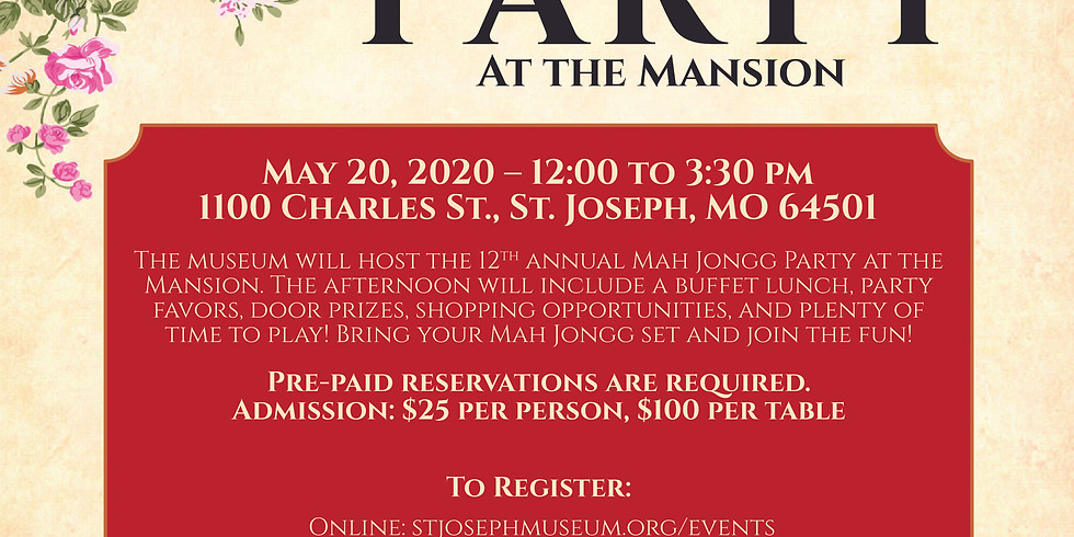 Mah Jongg at the Mansion