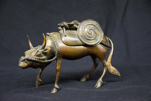 Japanese Bronze Cow Container