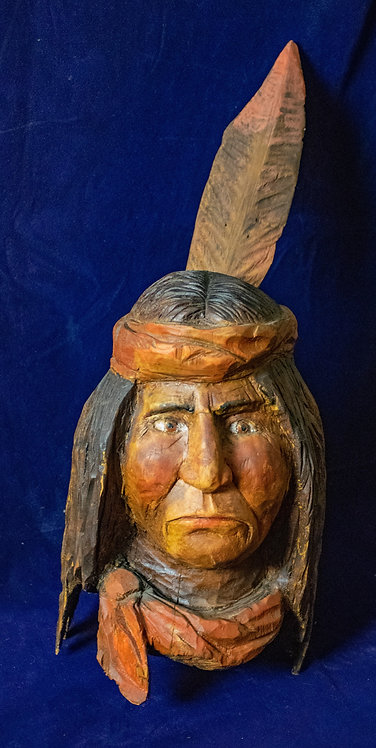 Indian w/ Father Bust statue
