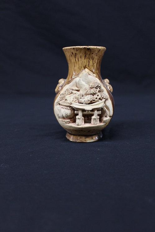 Carved Japanese Vase