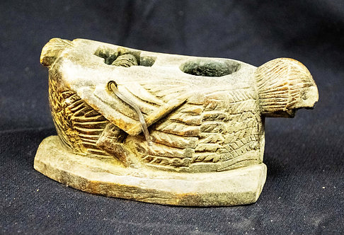 Wooden Carved Bird to Hold Line
