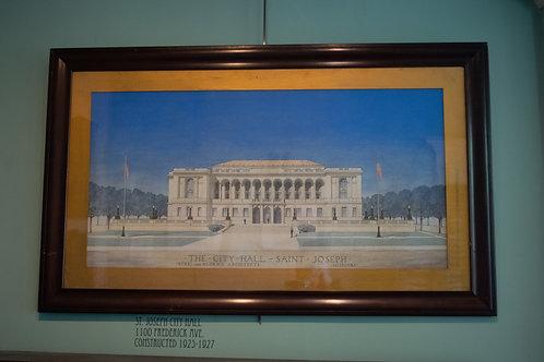 St. Joseph City Hall Watercolor