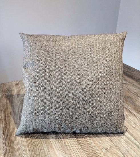 Grey Herringbone designer cushion UK